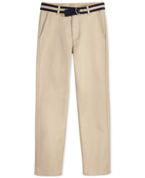 Nautica FlatFront Belted Twill Uniform Pants Little Boys