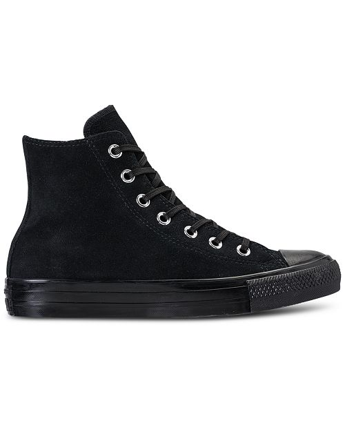 b32e08a0425a ... Converse Women s Chuck Taylor Plush Suede High-Top Casual Sneakers from  Finish ...