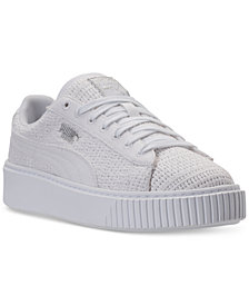 Puma Women's Basket Platform Casual Sneakers from Finish Line