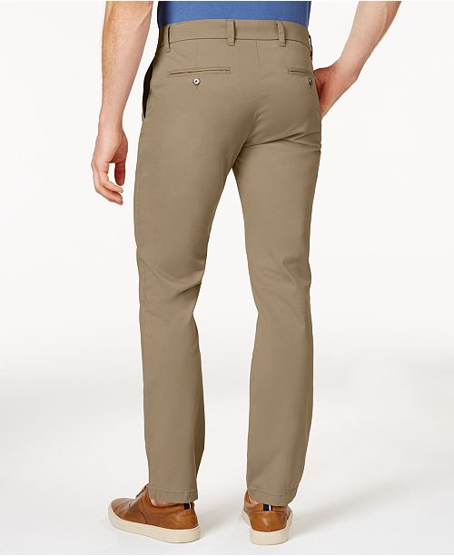 59cc97da ... Tommy Hilfiger Men's TH Flex Stretch Slim-Fit Chino Pants, Created for  Macy's ...