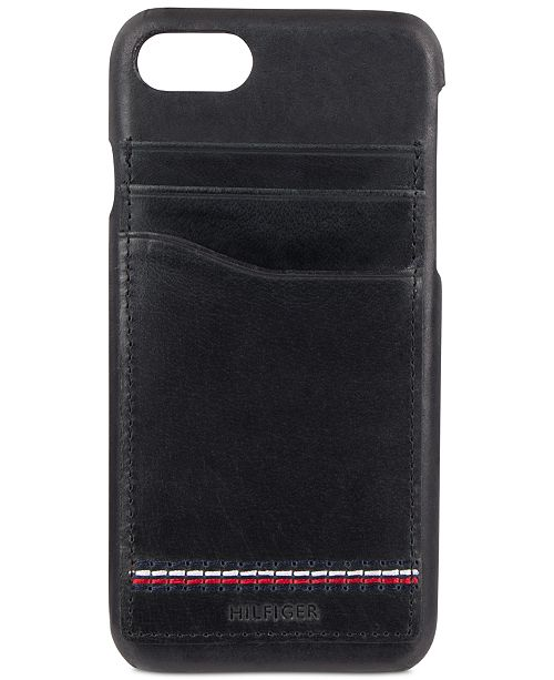 online store 37335 997e2 Tommy Hilfiger Men's Leather iPhone 7 Case & Reviews - All ...