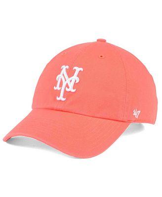 '47 Brand New York Mets Grapefruit CLEAN UP Cap
