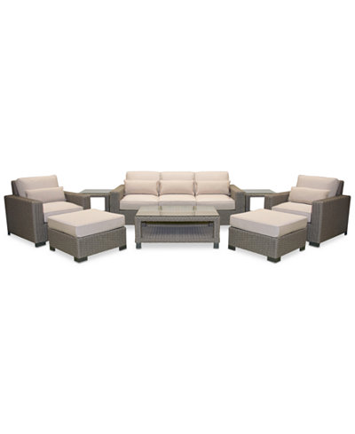 Del Mar 6-Pc. Set (1 Sofa, 2 Club Chairs, 2 Ottoman & 1 Coffee Table), Created for Macy's