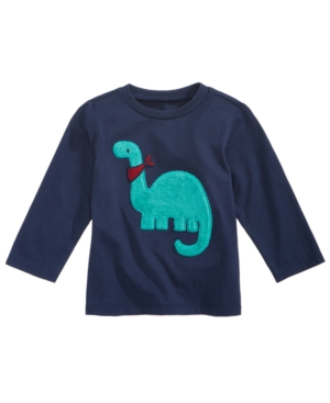 First Impressions Fuzzy DinoPrint Cotton TShirt Baby Boys (024 months) Created for Macys