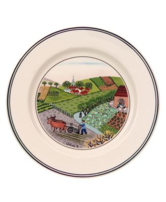 Dinnerware, Design Naif Bread and Butter Plate Plowing