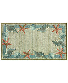 "Bacova Star Shell Border 22.4"" x 40"" Berber Accent Rug"