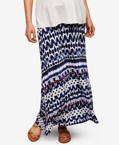 A Pea In The Pod Maternity Printed Maxi Skirt