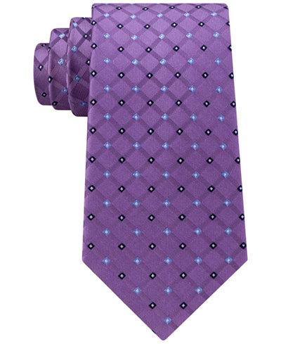 Clubhouse Men's Grid Neat Silk Tie