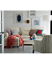 Lidia 82 Fabric Reversible Sectional Sofa Collection Created For Macy S