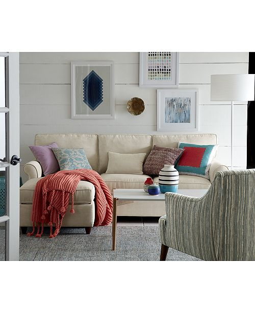 Furniture Lidia 82 Fabric 2 Pc Chaise Reversible Sectional Sofa With Storage Ottoman Created For Macy S