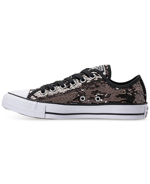 3ba29285b5b5 ... Converse Women's Chuck Taylor Ox Sequin Casual Sneakers from Finish ...
