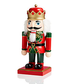 "Holiday Lane 10"" Wood Nutcracker with Crown, Created for Macy's"