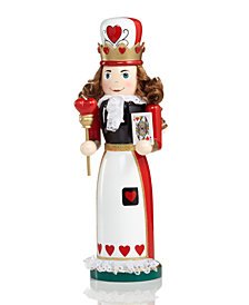 "Holiday Lane 14"" Wood Queen of Hearts Nutcracker, Created for Macy's"