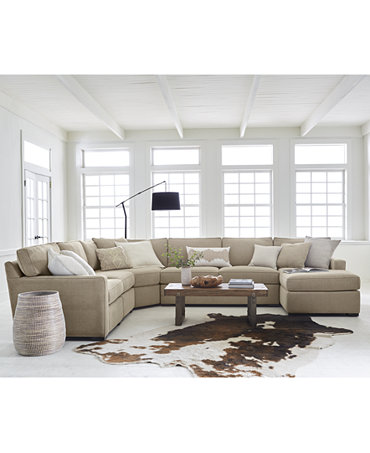 Radley fabric sectional sofa living room furniture Macy s living room furniture sale