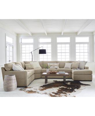 Furniture Radley Fabric 4 Piece Sectional Sofa, Created For Macyu0027s    Furniture   Macyu0027s