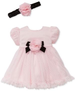 Little Me 2Pc Headband  Lace Dress Set Baby Girls (024 months)