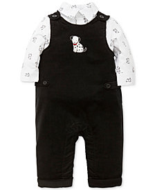 Little Me 2-Pc. Dalmatian-Print Shirt & Overalls Set, Baby Boys