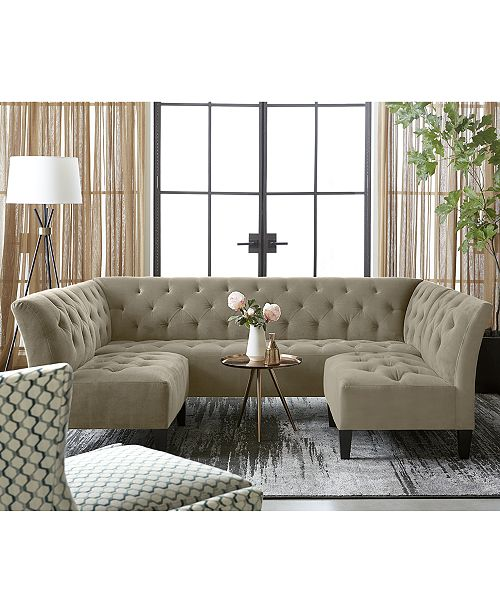 Furniture Arielle Tufted Fabric Sofa Collection Created For Macy S