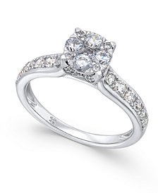 Diamond Composite Engagement Ring (1 ct. t.w.) in 14k White Gold