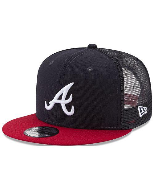 5b7136b09d6 ... New Era Atlanta Braves On Field Mesh 9FIFTY Snapback Cap ...