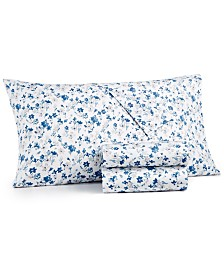 Martha Stewart Collection 4-Pc. Printed Queen Sheet Set, 400 Thread Count Cotton Percale, Created for Macy's