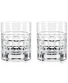 London Double Old Fashioned Glass Pair