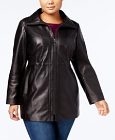 Anne Klein Plus Size Leather Jacket