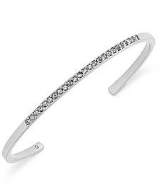 kate spade new york Silver-Tone Pavé Cuff Bracelet