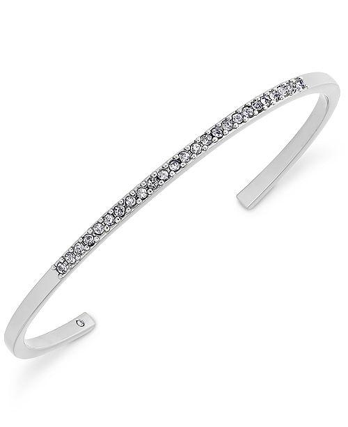 Fashion Jewelry Brilliant Beautiful Silver Sparkle Gold Tone Cuff Bangle Bracelet