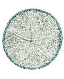 "Starfish Cotton 25"" Round Accent Rug"