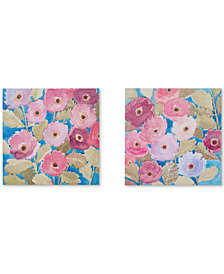 Madison Park Bright Florals 2-Pc. Hand-Embellished Canvas Print Set