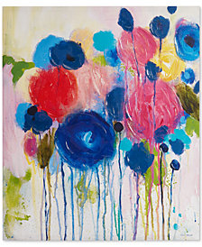 Intelligent Design Hearts and Flowers Hand-Embellished Canvas Print