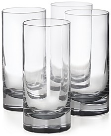 Highball Glasses with Gray Accent, Set of 4, Created for Macy's