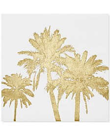 Intelligent Design Gold Palms Foil-Embellished Canvas Print