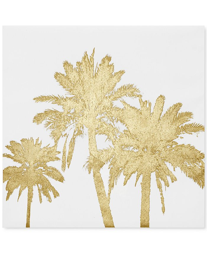 JLA Home - Gold Palms Foil-Embellished Canvas Print