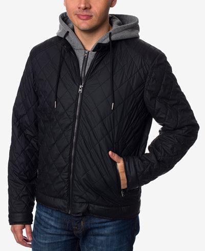 Buffalo David Bitton Men's Layered-Look Quilted Bomber Jacket ... : mens quilted bomber jacket - Adamdwight.com