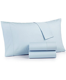 Martha Stewart Collection 4-Pc. Solid Full Sheet Set, 400 Thread Count 100% Cotton Percale, Created for Macy's