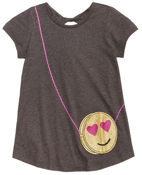 Jessica Simpson Smiley Purse Pocket T Shirt Big Girls 7 16