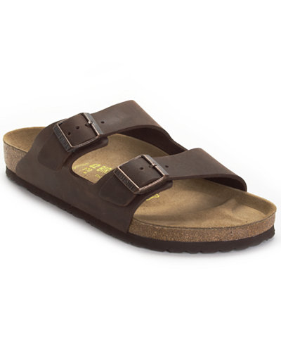 Birkenstock Men S Arizona Two Band Oiled Leather Sandals