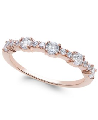 Diamond Band 12 ct tw in 14k Gold Rose Gold or White Gold