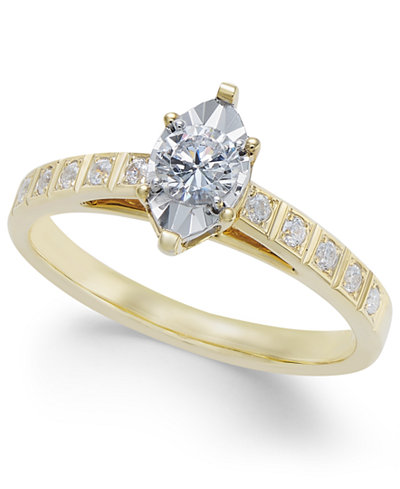 Diamond Miracle-Plate Engagement Ring (3/8 ct. t.w.) in 14k Gold