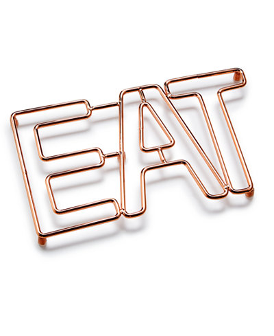 Martha Stewart Collection Copper Eat Trivet, Created for Macy's