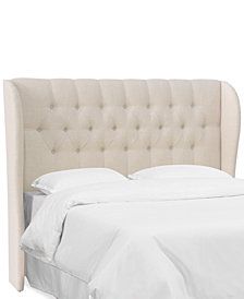 Avery Twin Tufted Wingback Headboard, Quick Ship