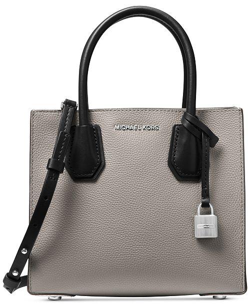 6c69f7ff6b4 Michael Kors Mercer Pebble Leather Crossbody - Handbags ...