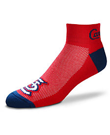 For Bare Feet St. Louis Cardinals The Cuff Ankle Socks
