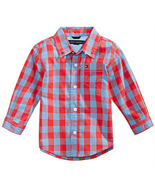 Tommy Hilfiger Cotton Kirk Plaid Shirt, Baby Boys