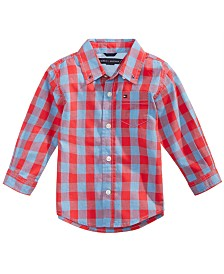 Tommy Hilfiger Cotton Kirk Plaid Shirt, Baby Boys