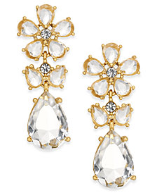kate spade new york 14k Gold-Plated Flower Drop Earrings