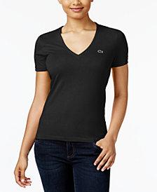 Lacoste Cotton V-Neck T-Shirt