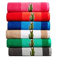 Lacoste Match Cotton Colorblocked Bath Towel Deals